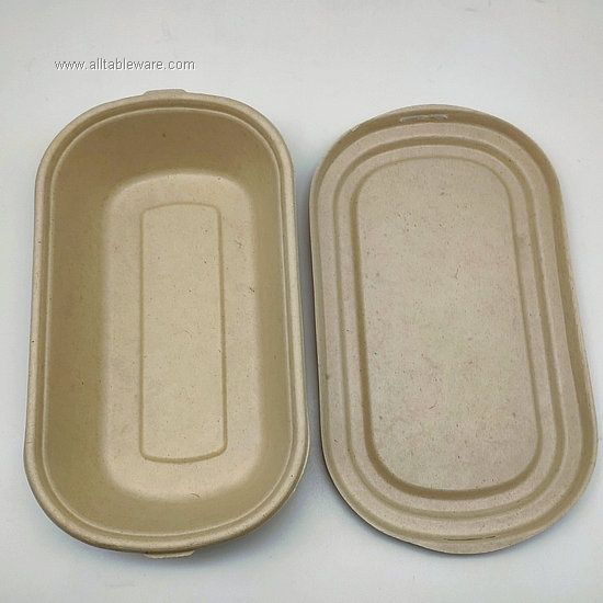 1000ml 35oz Compostable Bagasse Food Container With Lids