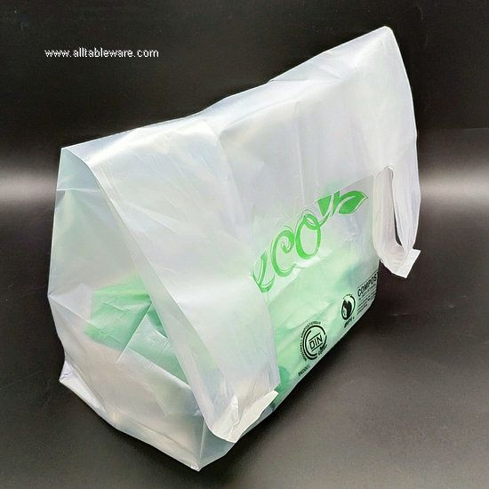 Clear Ecobags Custom Reusable Compostable Biobags Shopping Bags