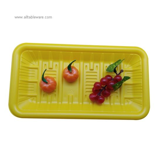 FDA Approved Eco Friendly Disposable Compostable Fast Food PLA Tray For Packaging