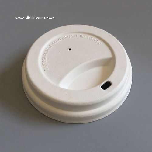 Compostable Biodegradable Disposable Sugarcane Bagasse Paper Coffee Cup Lid
