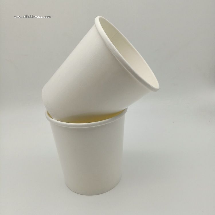 Environmentally friendly degradable white kraft paper soup bucket