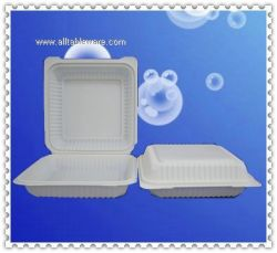 8inch cornstarch biodegradable clamshell food container