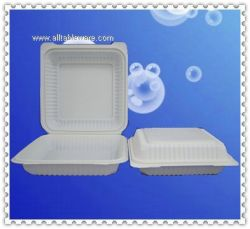 9inch disposable biodegradable cornstarch clamshell