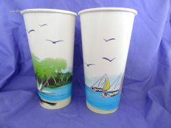 24oz disposable cold drink paper cup paper glass