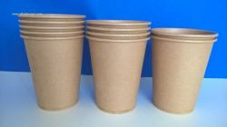 disposable kraft paper coffee cups