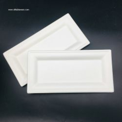 Bagasse Paper Pulp Rectangle Plate Manufacturers