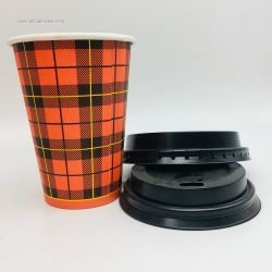 Eco-freidly Recyclable Paper Coffee Cup Custom Printed