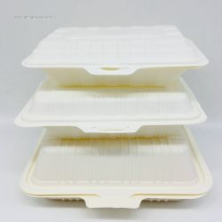 800ml Corn Starch Biodegradable  Disposable Food Container Box Factory