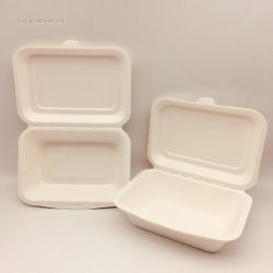 450ml Take Away Food Paper Pulp Lunch Box Customized Logo