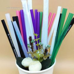 100% Biodegradable Drinking Straws Made of PLA Material