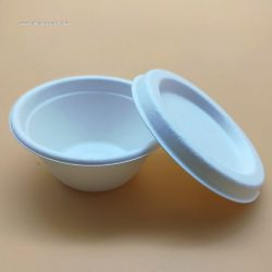 Biodegradable Paper Pulp Cups With Lid Sauce Bagasse Cup 55ml