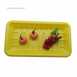 Tableware Container Disposable Compostable Frozen Food Packaging PET PLA Plastic Tray