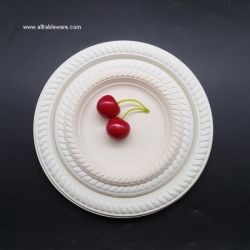 6inch 7 inch 9inch Disposable Compostable Biodegradable Round Dish Corn Starch Plates