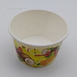 Custom Logo Printed Disposable Biodegradable Single Wall Ice Cream Paper Cup