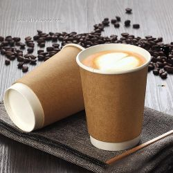 China Manufacturer Hot Drinking Double Wall Insulated Paper Coffee Cups With Lids