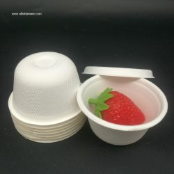 Disposable 2oz Sugarcane Bagasse Sauce Cup Sugarcane Bagasse Cup
