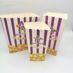 Custom disposable Cinema  Party used Paper Popcorn Box