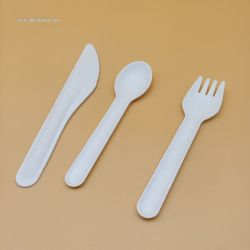 Environmental protection and biodegradable sugarcane pulp cutlery