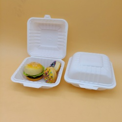 Disposable 400ml 6 Inches Burger Box Corn Starch Food Packaging Container Food