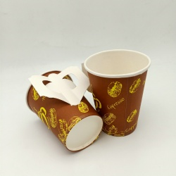 Biodegradable disposable anti-scalding paper cup
