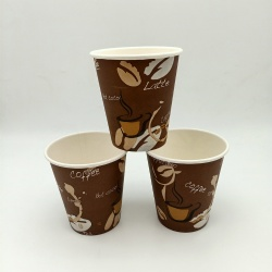 10oz environmentally friendly and biodegradable disposable paper coffee cup for restaurant